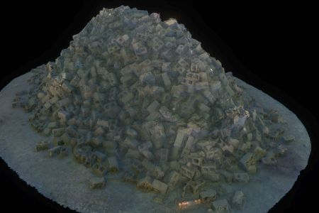 Artificial reef 3D model